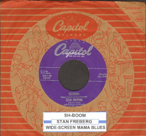 Freberg, Stan - Sh-Boom/Wide-Screen Mama Blues (with juke box label and vintage Capitol company sleeve) - EX8/ - 45 rpm Records