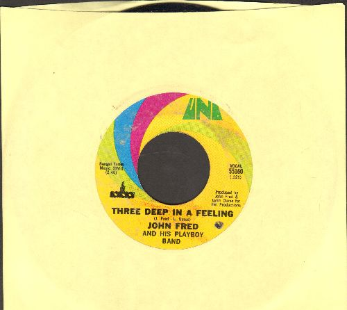 Fred, John & His Playboy Band - Three Deep In A Feeling/Open Doors (bb) - EX8/ - 45 rpm Records