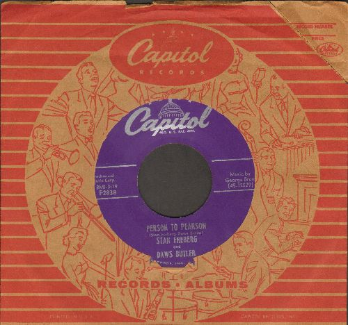 Freberg, Stan - Person To Pearson/Point Of Order (with vintage Capitol company sleeve) - NM9/ - 45 rpm Records