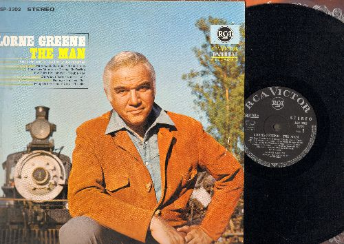 Greene, Lorne - The Man: Nine Pound Hammer, 16 Tons, Pop Goes The Hammer, Trouble Row (vinyl STEREO LP record, German Pressing) - NM9/EX8 - LP Records