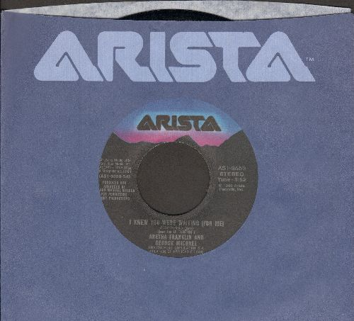 Franklin, Aretha & George Michael - I Knew You Were Waiting (For Me)/I Knew You Were Waiting (For Me) (Instrumental (with Arista company sleeve) - NM9/ - 45 rpm Records