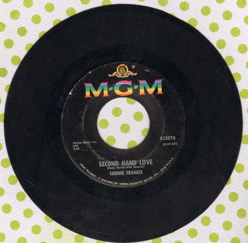 Francis, Connie - Second Hand Love/Gonna Git That Man  - EX8/ - 45 rpm Records