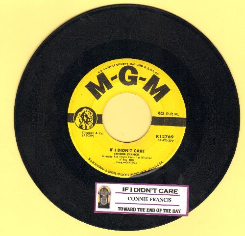 Francis, Connie - If I Didn't Care/Toward The End Of The Day (yeallow label first pressing with juke box label) - VG7/ - 45 rpm Records