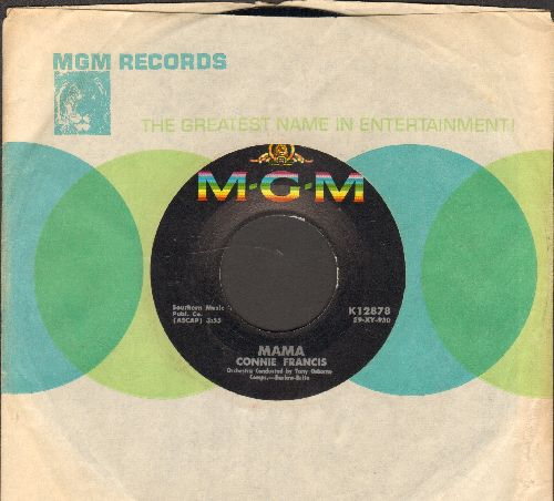 Francis, Connie - Teddy/Mama (Favorite for 'Mother's Day') (NICE condition with vintage MGM company sleeve) - NM9/ - 45 rpm Records
