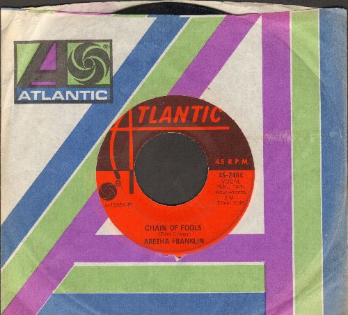 Franklin, Aretha - Chain Of Fools/Prove It (with Atlantic company sleeve) - VG7/ - 45 rpm Records