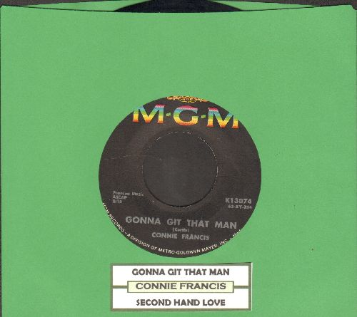 Francis, Connie - Second Hand Love/Gonna Git That Man (with juke box label) - EX8/ - 45 rpm Records