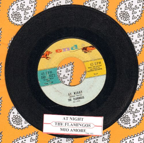 Flamingos - Mio Amore/At Night (with juke box label) - EX8/ - 45 rpm Records