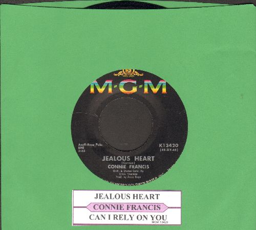 Francis, Connie - Jealous Heart (Blaue Nacht am Hafen)/Can I Rely On You  - NM9/ - 45 rpm Records