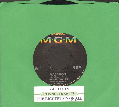 Francis, Connie - V-A-C-A-T-I-O-N/The Biggest Sin Of All (with juke box label) - EX8/ - 45 rpm Records