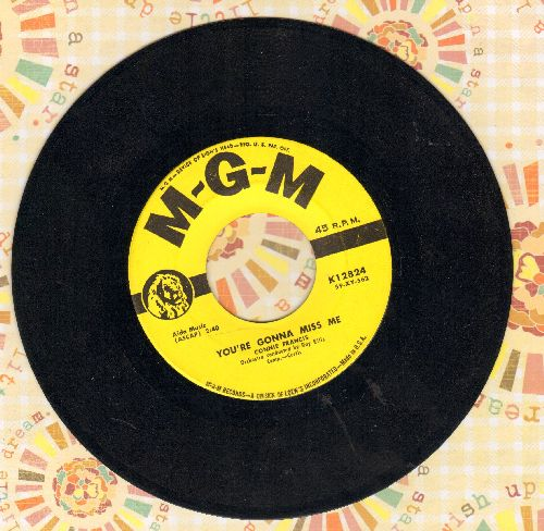 Francis, Connie - You're Gonna Miss Me/Plenty Good Lovin' (with original company sleeve) - VG7/ - 45 rpm Records