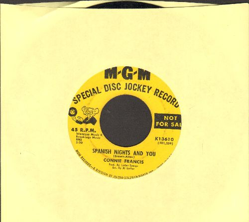 Francis, Connie - Spanish Nights And You/Games That Lovers Play (DJ advance pressing) - EX8/ - 45 rpm Records