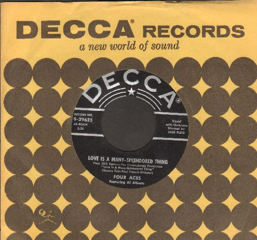 Four Aces - Perfidia/You Brought Me Love (with juke box label and vintage Decca company sleeve) - NM9/ - 45 rpm Records