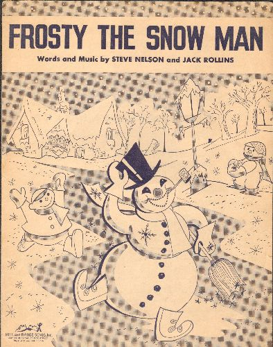 Fitzgerald, Ella, Ronettes - Frosty The Snow Man - Vintage 1950 SHEET MUSIC for the Christmas Classic - EX8/ - Sheet Music