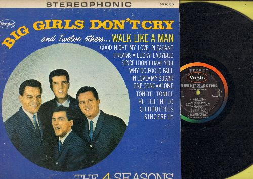 Four Seasons - Big Girls Don't Cry and Twelve others…Walk Like A Man, Why Do Fools Fall In Love, Sincerely, Hi-Lili Hi-Lo, Alone, Lucky Ladybug (Vinyl STEREO LP record) (seam split repair) - EX8/VG7 - LP Records