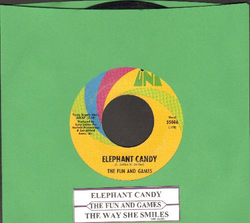 Fun And Games - Elephant Candy/The Way She Smiles (with juke box label) (bb) - VG7/ - 45 rpm Records
