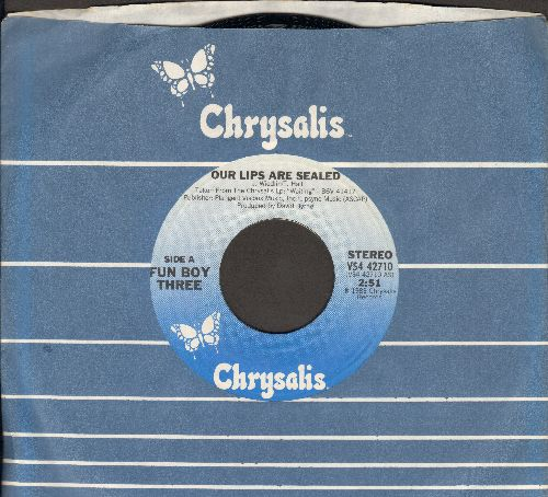 Fun Boy Three - Our Lips Are Sealed (VERY NICE Boy-Version of Go-Go-s Hit!)/We're Having All The Fun (with Chrysalis company sleeve) - M10/ - 45 rpm Records