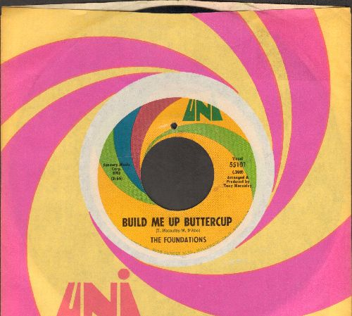 Foundations - Build Me Up Buttercup/New Direction (with Uni company sleeve)  - VG7/ - 45 rpm Records