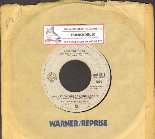 Funkadelic - One Nation Under A Groove (Parts 1 + 2) (with juke box label and company sleeve) - VG7/ - 45 rpm Records