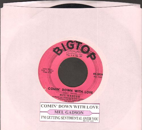 Gadson, Mel - Comin' Down With Love/I'm Getting Sentimental Over You (with juke box label) - VG7/ - 45 rpm Records