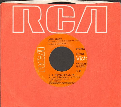 Gary, John - I'll Never Fall In Love Again/Love Of A Gentle Woman (with RCA company sleeve) - NM9/ - 45 rpm Records