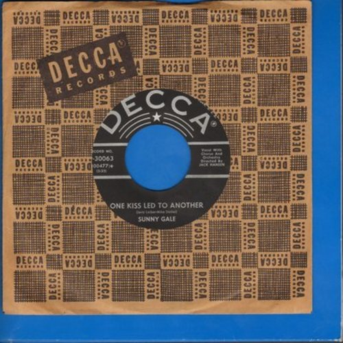 Gale, Sunny - One Kiss Lead To Another/Two Hearts (with vintage Decca company sleeve) - EX8/ - 45 rpm Records
