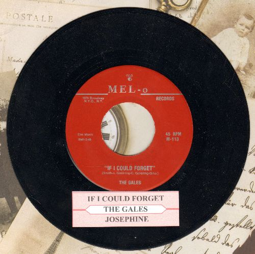 Gales - If I Could Forget/Josephone (authentic-looking re-issue of vintage Doo-Wop classic with juke box label) - NM9/ - 45 rpm Records