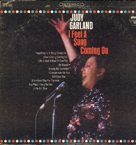 Garland, Judy - I Feel A Song Coming On: Life Is Just A Bowl Of Cherries, Do I Love You, Among My Souvenirs, Little Girl Blue (vinyl STEREO LP record) - NM9/VG7 - LP Records