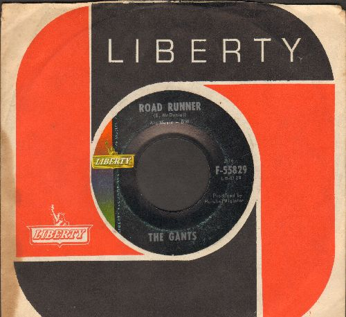 Gants - Road Runner/My Baby Don't Care (with RARE vintage Liberty company sleeve) - NM9/ - 45 rpm Records