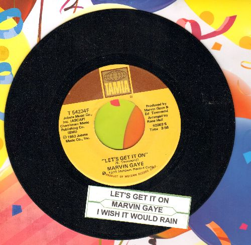 Gaye, Marvin - Let's Get It On/I Wish It Would Rain (with juke box label) - NM9/ - 45 rpm Records