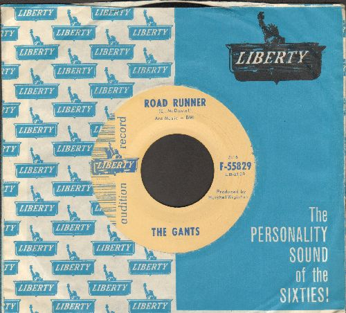 Gants - Road Runner/My Baby Don't Care (DJ advance pressing with RARE vintage Liberty company sleeve) - EX8/ - 45 rpm Records