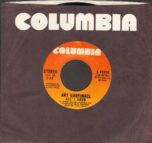 Garfunkel, Art - All I Know/Mary Was Only A Child (with Columbia company sleeve) - NM9/ - 45 rpm Records
