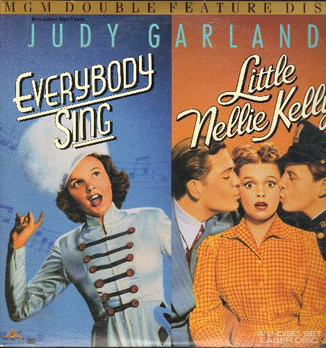Garland, Judy - MGM Double Feature LASERDISC: Everybody Sing/Little Nellie Kelly, 2 Classics starring Judy Garland, 2 LASERDISC in gate-fold cover. - NM9/NM9 - LaserDiscs