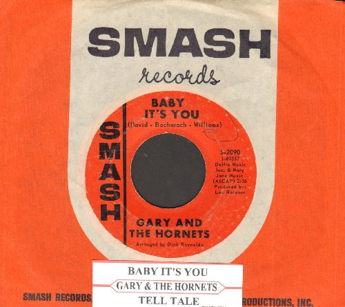 Gary & The Hornets - Baby It's You/Tell Tale (with juke box label and vintage Smash company sleeve)(bb) - VG7/ - 45 rpm Records