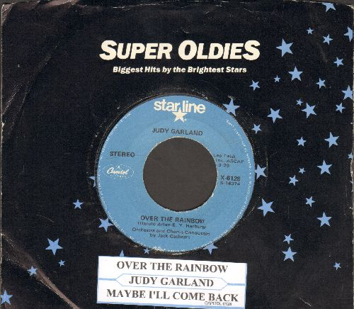 Garland, Judy - Over The Rainbow/Maybe I'll Come Back (1970s issue of vintage recordings, with juke box label and Capitol company sleeve) - NM9/ - 45 rpm Records