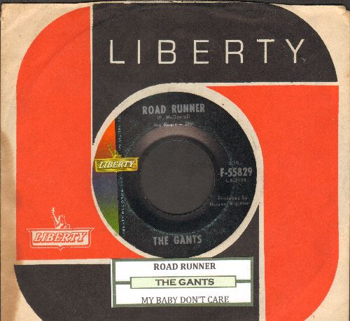 Gants - Road Runner/My Baby Don't Care (with RARE vintage Liberty company sleeve and juke box label) - EX8/ - 45 rpm Records