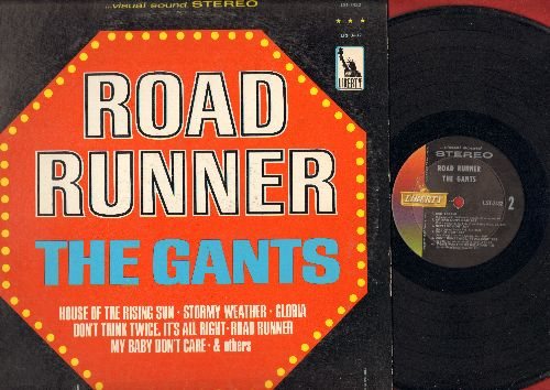 Gants - Road Runner: Stormy Weather, Gloria, The House Of The Rising Sun, Bad Boy, My baby Don't Care (vinyl STEREO LP record, minor woc) - EX8/VG6 - LP Records