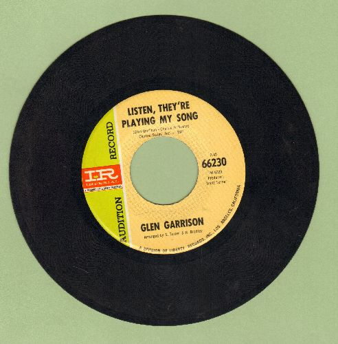 Garrison, Glen - Listen, They're Playing My Song/My New Creation (DJ advance pressing) - NM9/ - 45 rpm Records