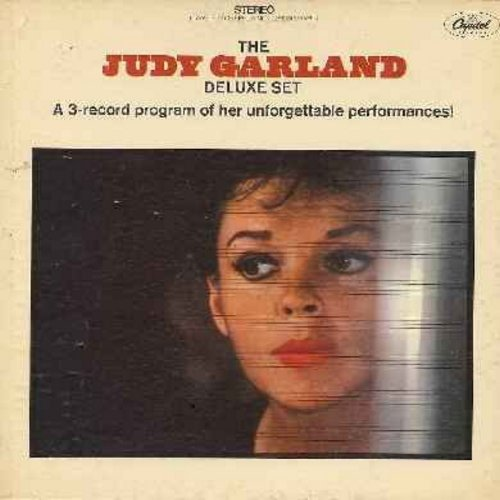 Garland, Judy - The Judy Garland Deluxe Set - 3 vinyl LP record set featuring 30 Unforgettable Songs!  - EX8/VG7 - LP Records