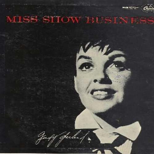 Garland, Judy - Miss Show Business: This Time Of The Evening, While We're Young, Movie-Medley, Judy At The Palace, Over The rainbow (black label first issue - vinyl LP record) - EX8/VG7 - LP Records