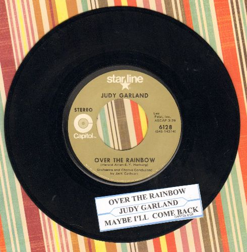 Garland, Judy - Over The Rainbow/Maybe I'll Come Back (1970s issue of vintage recordings) - EX8/ - 45 rpm Records