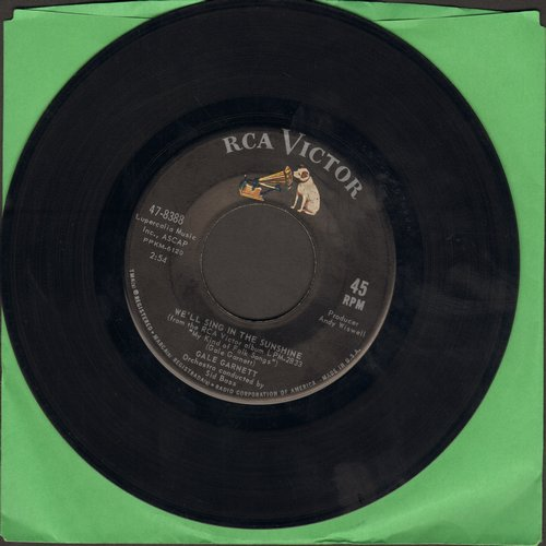 Garnett, Gale - We'll Sing In The Sunshine/Prism Song (with juke box label) - EX8/ - 45 rpm Records
