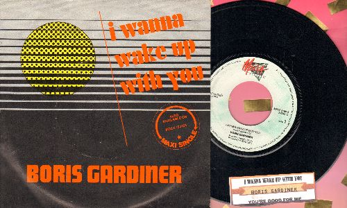 Gardiner, Boris - I Wanna Wake Up With You (SLOW DANCE FAVORITE!)/You're Good For Me (SWEDISH Pressing with juke box label and picture sleeve) - NM9/EX8 - 45 rpm Records