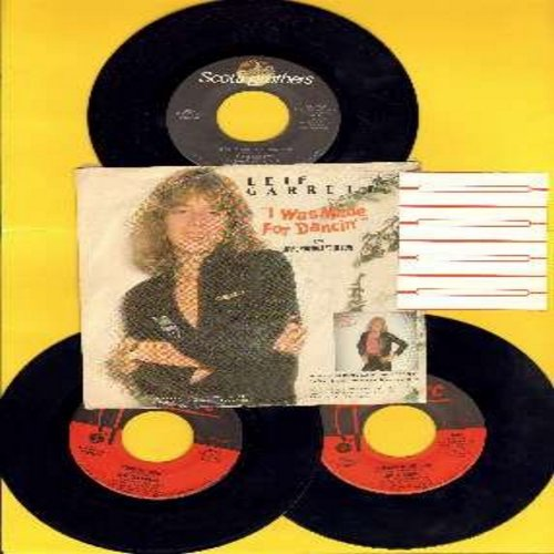 Garrett, Leif - Leif Garrett 3-Pack of 45rpm records. Hit titles include Surfin' USA, Runaround Sue and I Was Made For Dancin' (this record comes with picture sleeve, the other 2 records are in plain white sleeves). All records are in very good to excelle