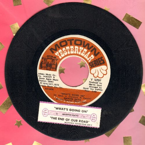 Gaye, Marvin - What's Going On/The End Of Our Road (double-hit re-issue with juke box label) - NM9/ - 45 rpm Records