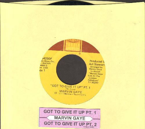Gaye, Marvin - Got To Give It Up (Parts 1+2) (with juke box label) - VG7/ - 45 rpm Records