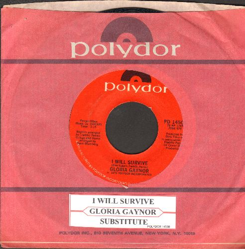 Gaynor, Gloria - I Will Survive (DISCO FAVORITE!)/Substitute (with Polydor company sleeve and juke box label) - NM9/ - 45 rpm Records
