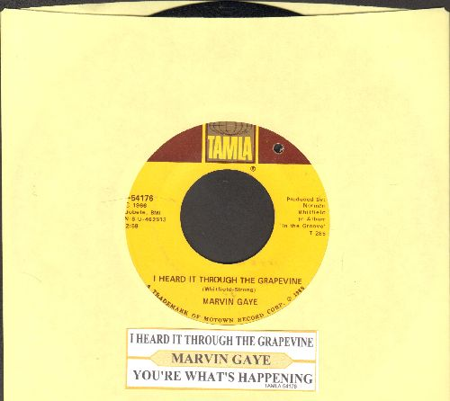 Gaye, Marvin - I Heard It Through The Grapevine/You're What's Happening (with juke box label) (bb) - EX8/ - 45 rpm Records