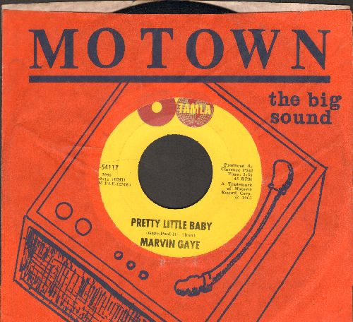 Gaye, Marvin - Pretty Little Baby/Now That You've Won Me (2 globes first issue with RARE vintage Motown company sleeve) - VG7/ - 45 rpm Records
