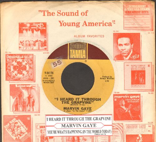 Gaye, Marvin - I Heard It Through The Grapevine/You're What's Happening (with juke box label and Motown Company sleeve) - NM9/ - 45 rpm Records