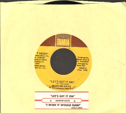 Gaye, Marvin - Let's Get It On/I Wish Iy Would Rain (with juke box label and company sleeve) - NM9/ - 45 rpm Records
